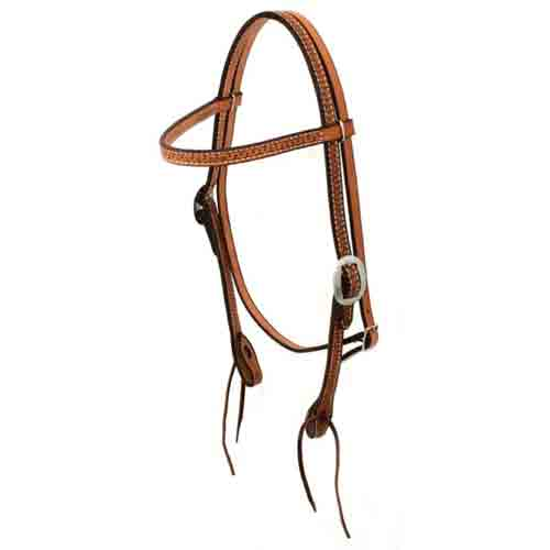 Teskey's Running W Browband Headstall Tack - Headstalls - Browband Teskey's Teskeys