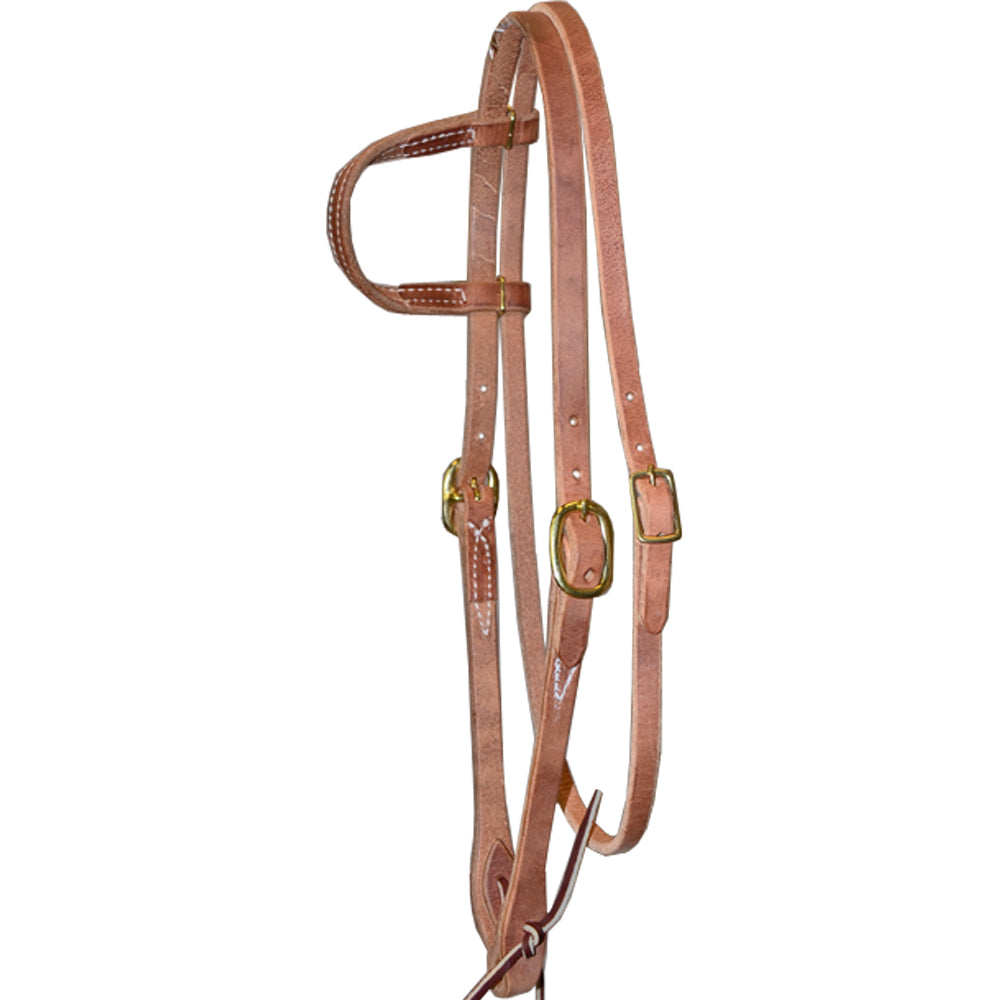 Teskey's One Ear Headstall with Throat Latch Tack - Headstalls - One Ear Teskey's Teskeys