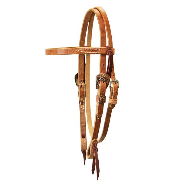 Cowboy Harness Brownband Headstall Tack - Headstalls Teskeys Teskeys