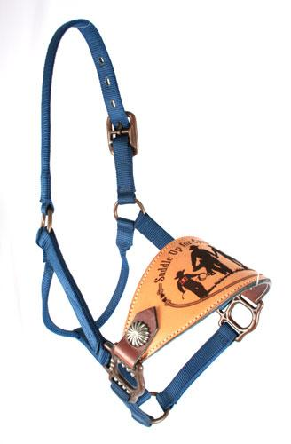 Trophy Bronc Nose Nylon Halter #23 CUSTOMS & AWARDS - HALTERS Teskeys Teskeys