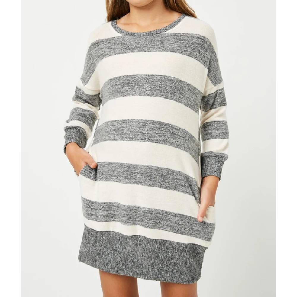 Girl's Stripe Mini Dress KIDS - Girls - Clothing - Dresses HAYDEN LOS ANGELES Teskeys
