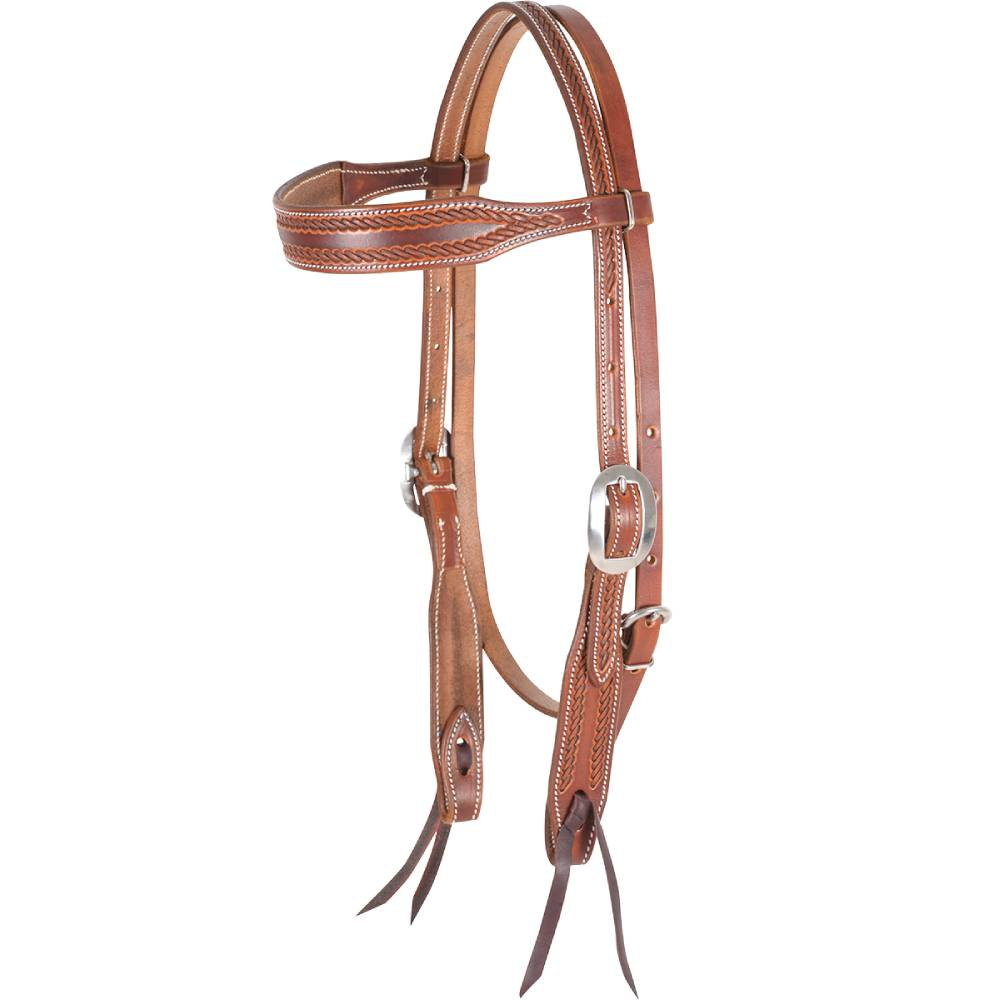 Martin Saddlery Rope Border Browband Headstall Tack - Headstalls - Browband Martin Saddlery Teskeys