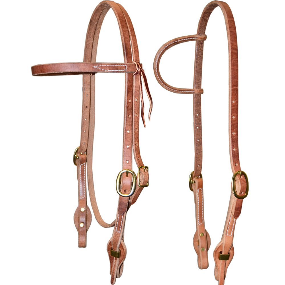 Teskey's Light Oil Quick-Change Bit End Headstalls Tack - Headstalls Teskey's Teskeys