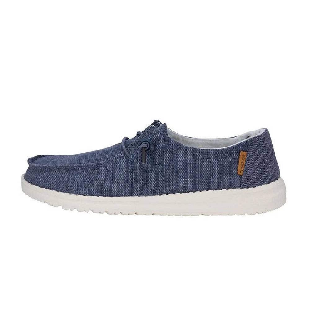 Hey Dude Wendy - Chambray Navy White WOMEN - Footwear - Casuals HEY DUDE Teskeys