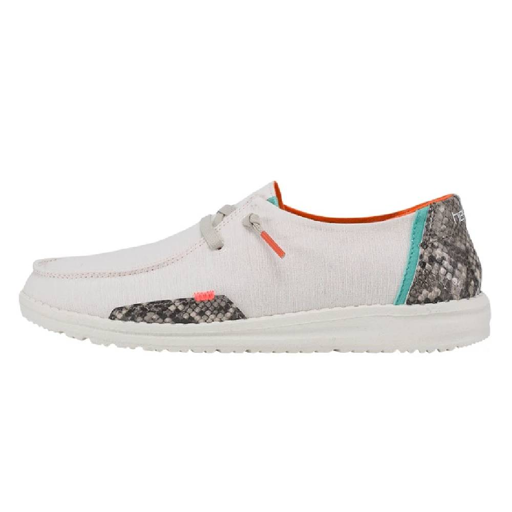 Hey Dude Women's Wendy - Snake Linen White WOMEN - Footwear - Casuals HEY DUDE Teskeys