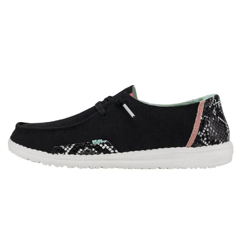 Hey Dude Women's Wendy - Snake Linen Black