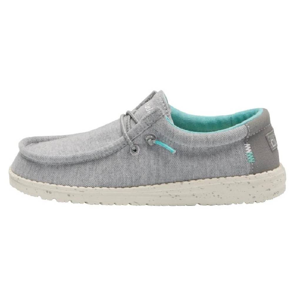 Hey Dude Youth Wally - Stretch Grey KIDS - Footwear - Casual Shoes HEY DUDE Teskeys