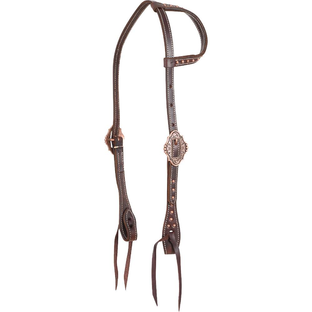 Martin Saddlery Copper Buckle One Ear Headstall Tack - Headstalls - One Ear Martin Saddlery Teskeys