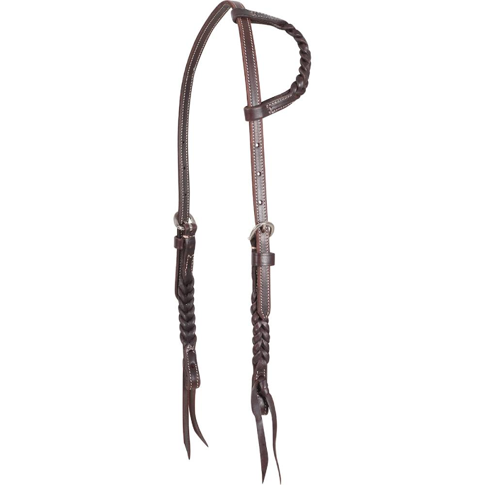 Martin Saddlery Latigo Blood Knot One Ear Headstall Tack - Headstalls - One Ear Martin Saddlery Teskeys