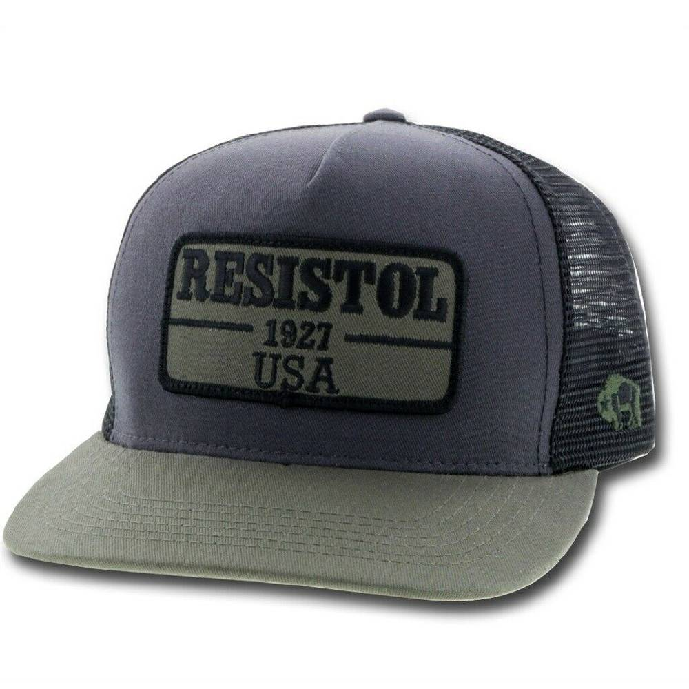Hooey Resistol Olive/Black Patch Trucker Cap HATS - BASEBALL CAPS HOOEY Teskeys