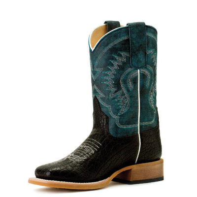 Horse Power Kid Black Bull Hide Boot KIDS - Boys - Footwear - Boots HORSE POWER Teskeys
