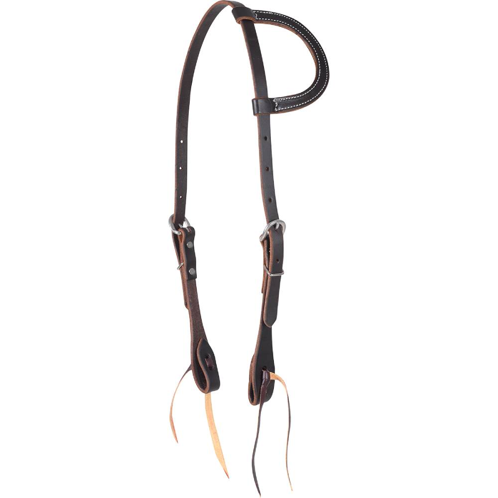 Martin Saddlery Chocolate Leather Value Series One Ear Headstall Tack - Headstalls - One Ear Martin Saddlery Teskeys