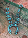 Kingman Turquoise Cluster Squash Blossom WOMEN - Accessories - Jewelry - Necklaces SUNWEST SILVER Teskeys