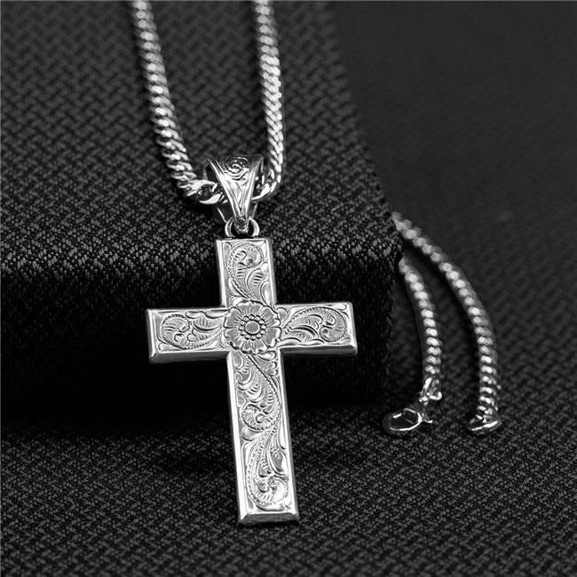 Floral Scroll Cross Necklace MEN - Accessories - Jewelry & Cuff Links M&F WESTERN PRODUCTS Teskeys
