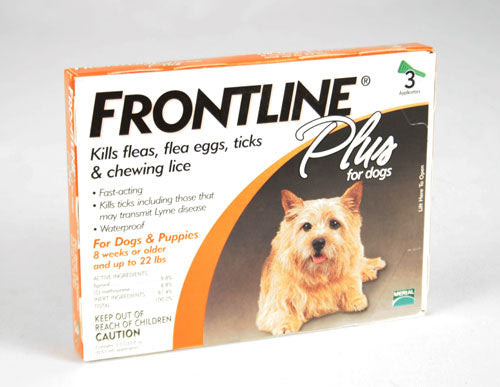 Frontline Plus for dogs 8 weeks or older and up to 22 FARM & RANCH - Animal Care - Pets - Flea & Pest Control - Collars Merial Teskeys