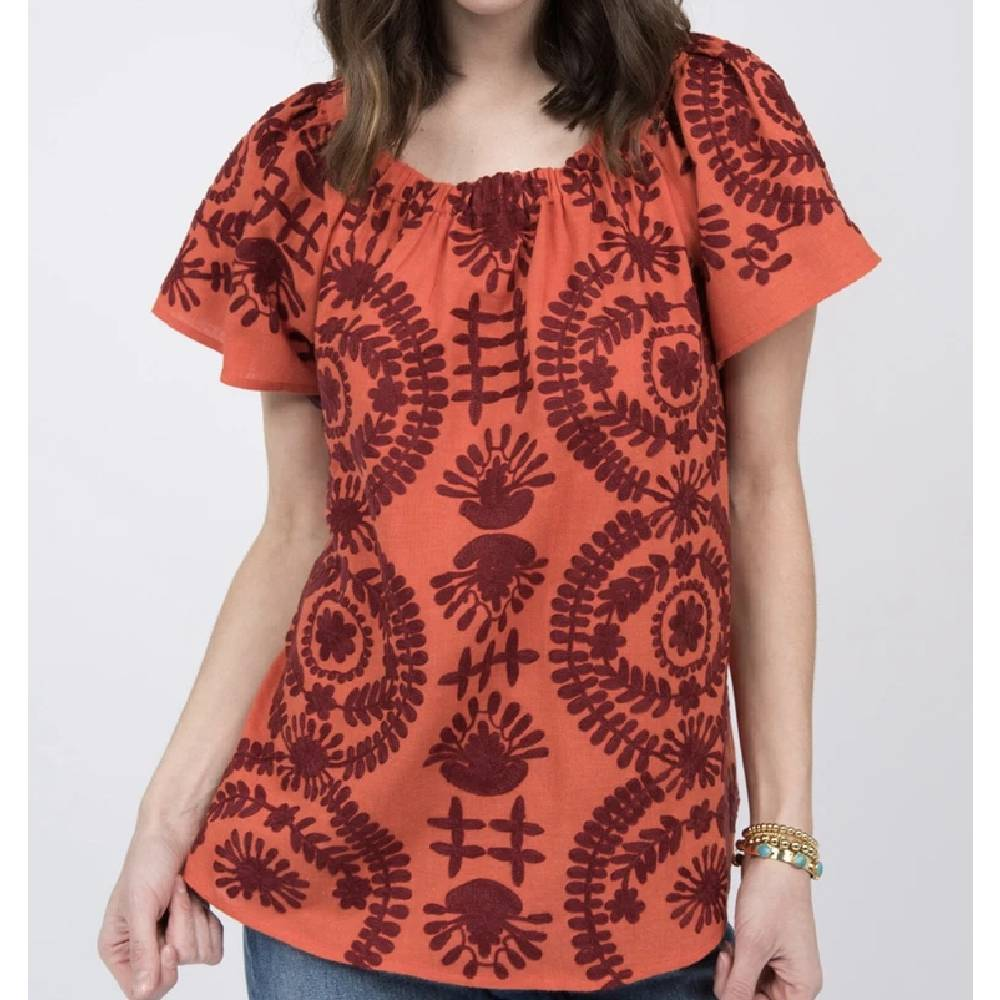 Ivy Jane Crewl Peasant Top