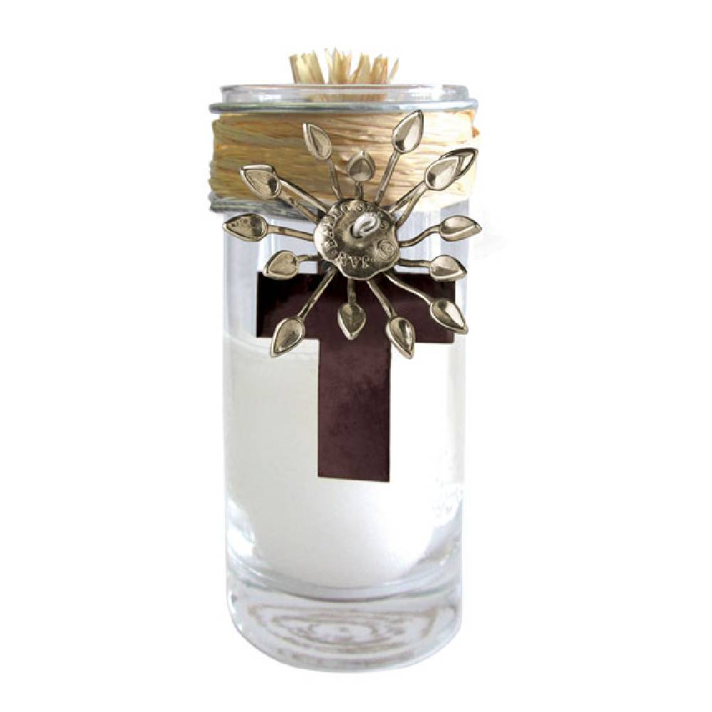 Jan Barboglio Adelita Cruzita Vela Cross Candle HOME & GIFTS - Home Decor - Decorative Accents JAN BARBOGLIO BY BLANCA SANTA Teskeys