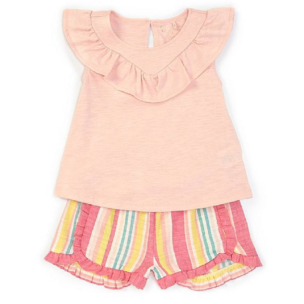 Jessica Simpson Ruffle Tank & Stripe Short Set KIDS - Girls - Clothing - Short Sets JESSICA SIMPSON GIRLS Teskeys