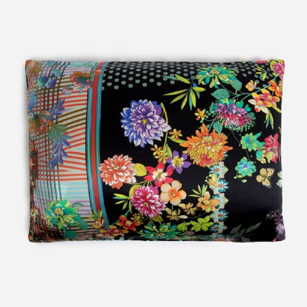 Johnny Was Decklyn Black Floral Pillowcase HOME & GIFTS - Home Decor - Blankets + Throws JOHNNY WAS COLLECTION Teskeys