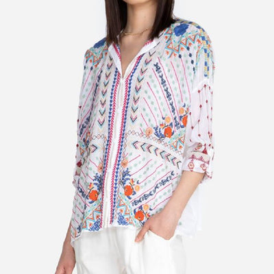 Johnny Was Disha Blouse WOMEN - Clothing - Tops - Short Sleeved JOHNNY WAS COLLECTION Teskeys