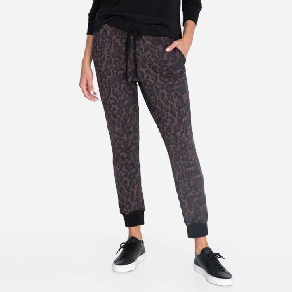 Johnny Was Leopard French Terry Jogger WOMEN - Clothing - Pants & Leggings JOHNNY WAS COLLECTION Teskeys