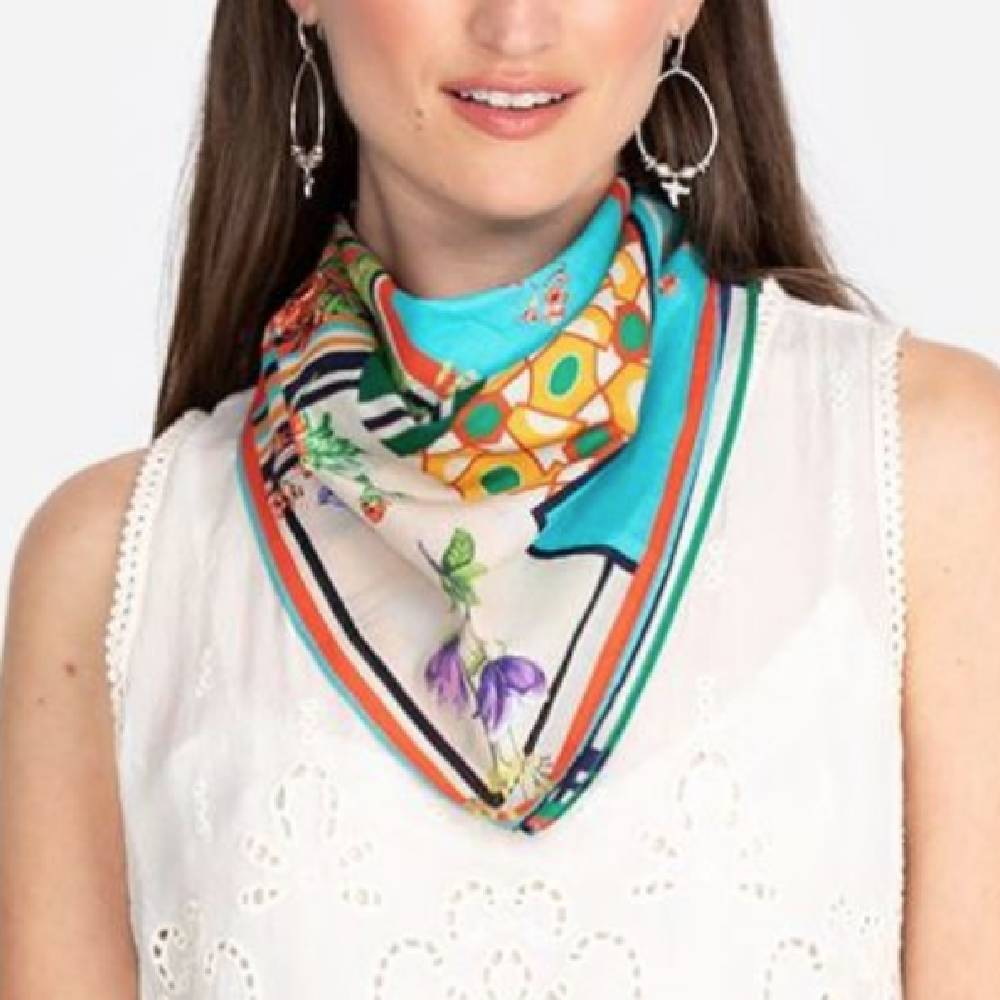 Jonny Was Lucana Bandana Scarf WOMEN - Accessories - Scarves & Wraps JOHNNY WAS COLLECTION Teskeys