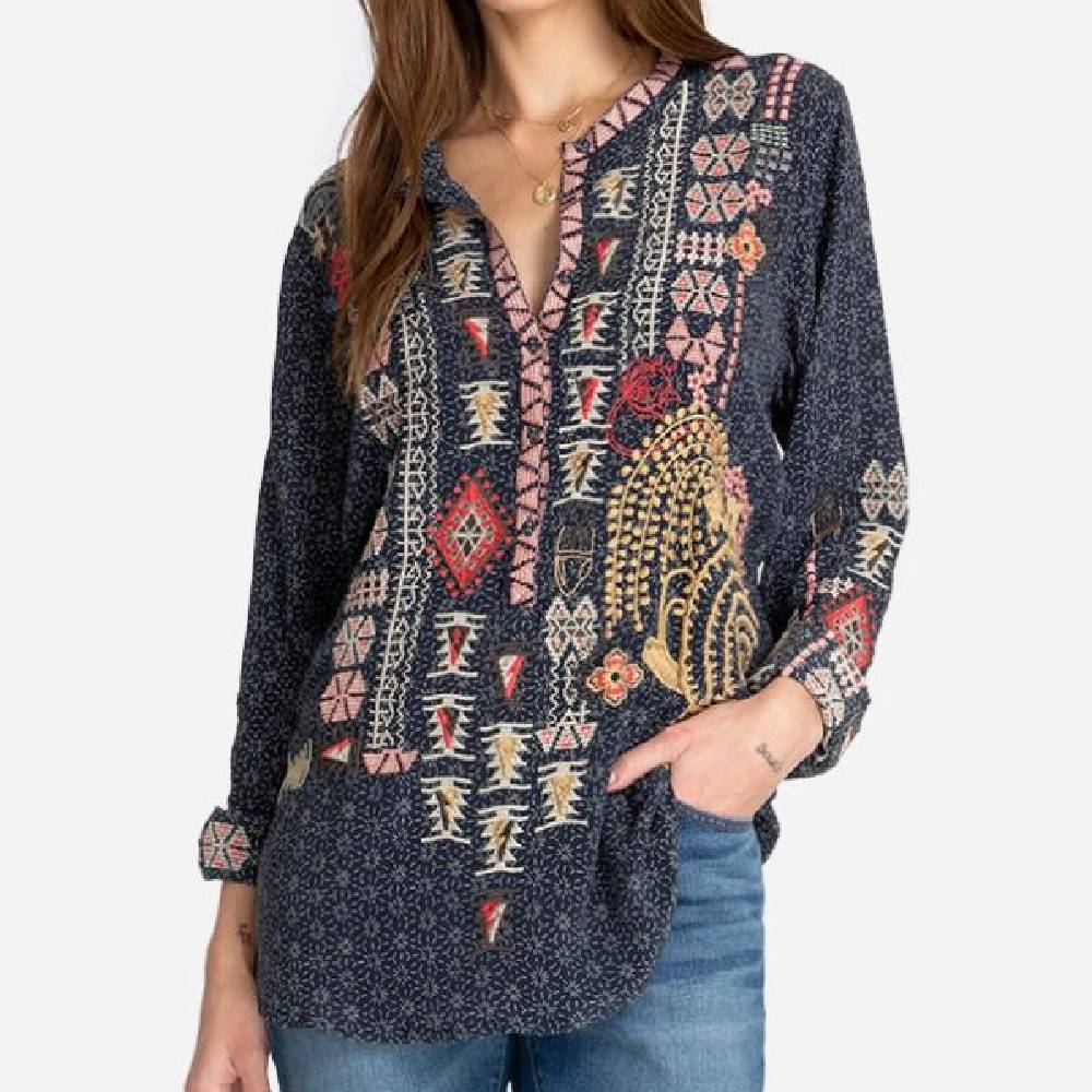 Johnny Was Yrie Blouse WOMEN - Clothing - Tops - Long Sleeved JOHNNY WAS COLLECTION Teskeys
