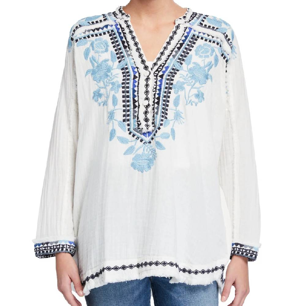 Johnny Was Vedera Gauze Blouse WOMEN - Clothing - Tops - Long Sleeved JOHNNY WAS COLLECTION Teskeys