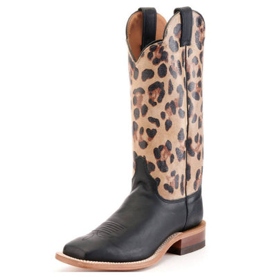 Justin Ardmore Black and Cheetah Boot WOMEN - Footwear - Boots - Western Boots JUSTIN BOOT CO. Teskeys