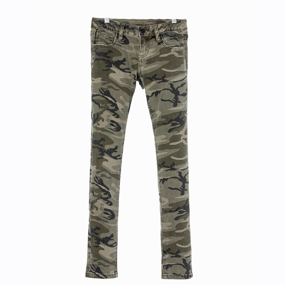 GIRL'S VINTAGE CAMO SKINNY JEAN - MISS ME KIDS - Girls - Clothing - Jeans MISS ME Teskeys