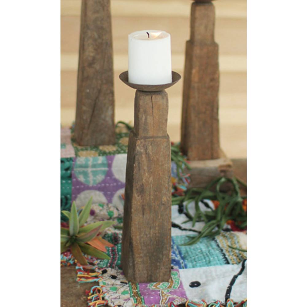 Wooden Leg Candle Holder HOME & GIFTS - Home Decor - Decorative Accents KALALOU Teskeys