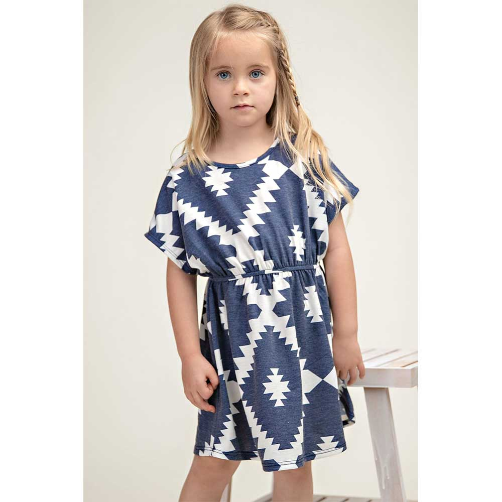 Aztec Elastic Waist Dress KIDS - Girls - Clothing - Dresses 12PM BY MON AMI Teskeys