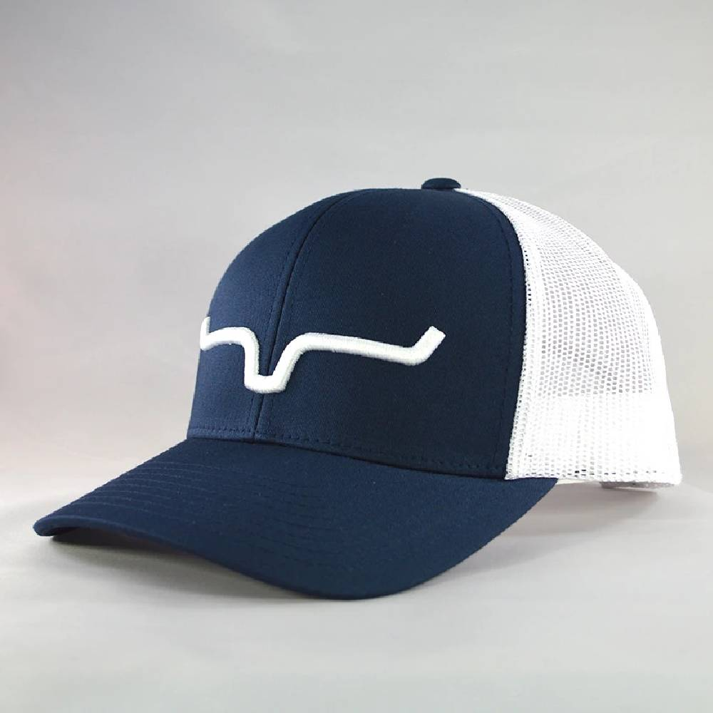 Kimes Ranch Weekly Trucker Cap-Navy/White HATS - BASEBALL CAPS KIMES RANCH Teskeys
