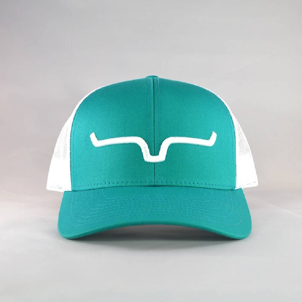 Kimes Ranch Weekly Trucker Cap-Teal/White HATS - BASEBALL CAPS KIMES RANCH Teskeys