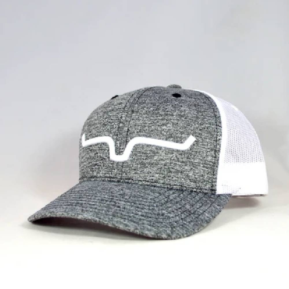 Kimes Ranch Weekly Trucker Cap-Heather Grey HATS - BASEBALL CAPS KIMES RANCH Teskeys