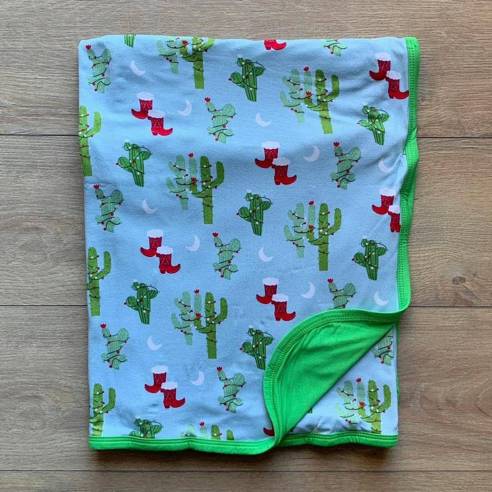 Kozi & Co Christmas Cactus Blanket KIDS - Baby - Baby Accessories KOZI & CO Teskeys