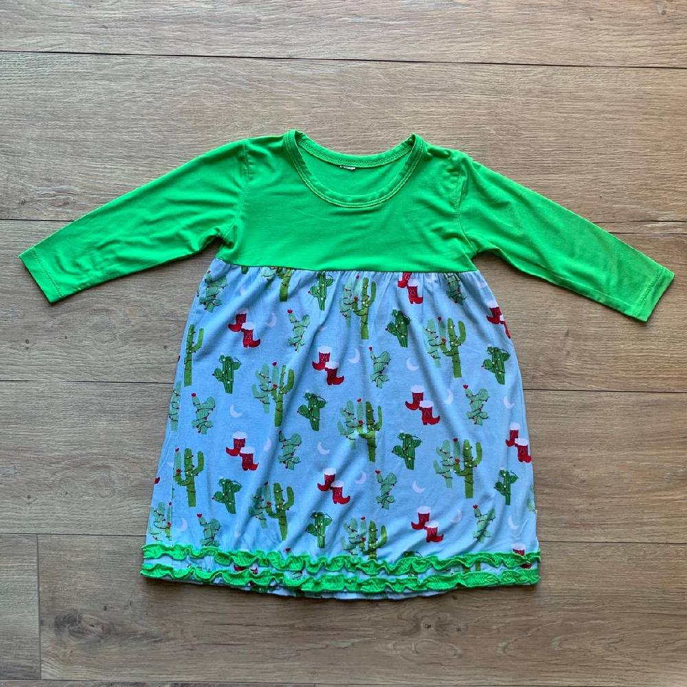 Kozi & Co Christmas Cactus Dress KIDS - Baby - Baby Girl Clothing KOZI & CO Teskeys