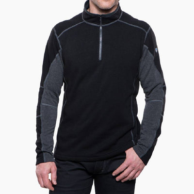 KÜHL Revel 1/4 Zip Sweater  - Black Steel MEN - Clothing - Pullovers & Hoodies Kuhl Teskeys