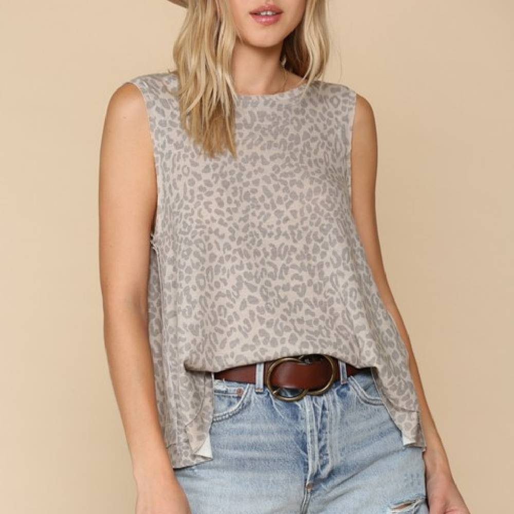 Leopard Knit Tank Top WOMEN - Clothing - Tops - Sleeveless BY TOGETHER Teskeys