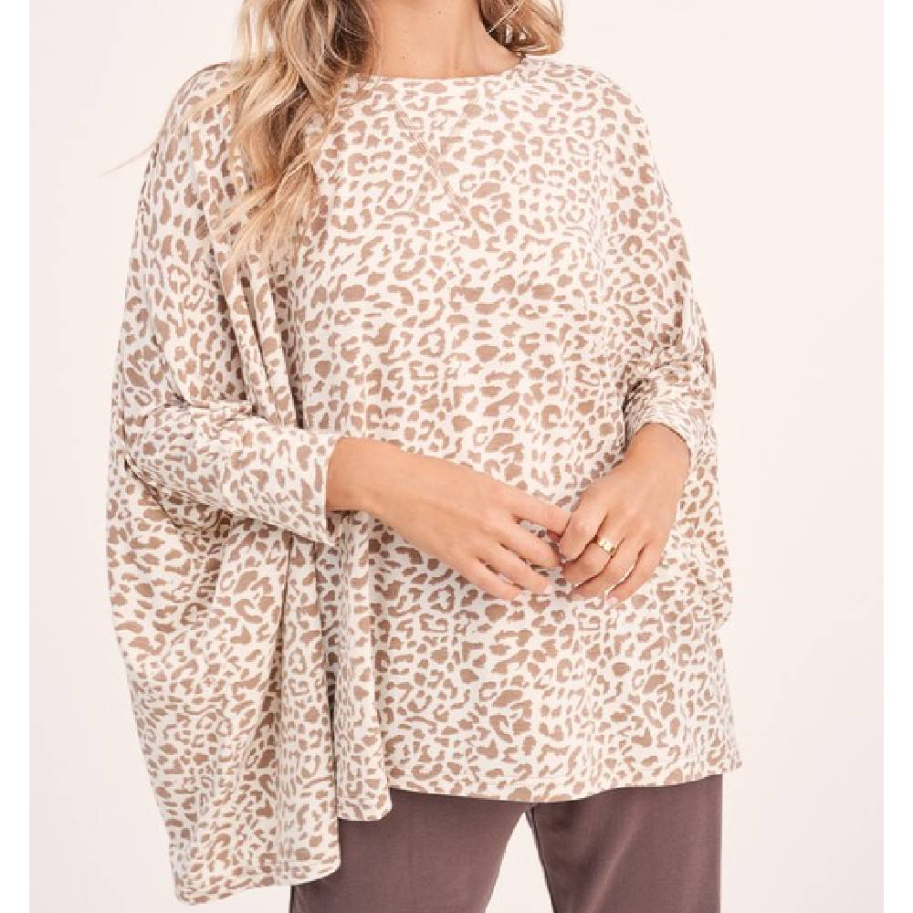 Ivory Leopard Print Top WOMEN - Clothing - Tops - Short Sleeved LA MIEL Teskeys