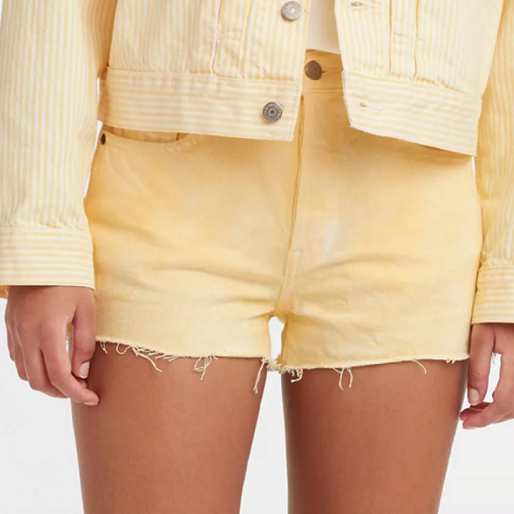 Levi 501 In The Flan Yellow Shorts WOMEN - Clothing - Shorts LEVI STRAUSS & CO Teskeys