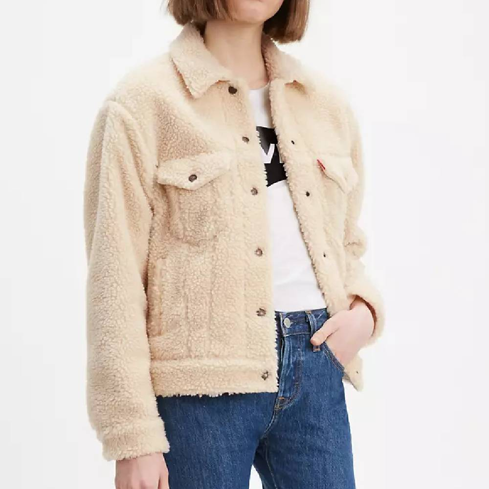 Levi Women's Ex-Boyfriend Sherpa Trucker Jacket WOMEN - Clothing - Outerwear - Jackets LEVI STRAUSS & CO Teskeys
