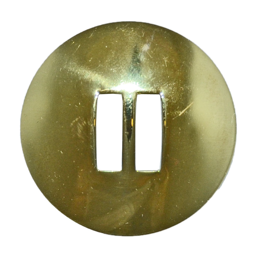 Brass Smooth Slotted Concho