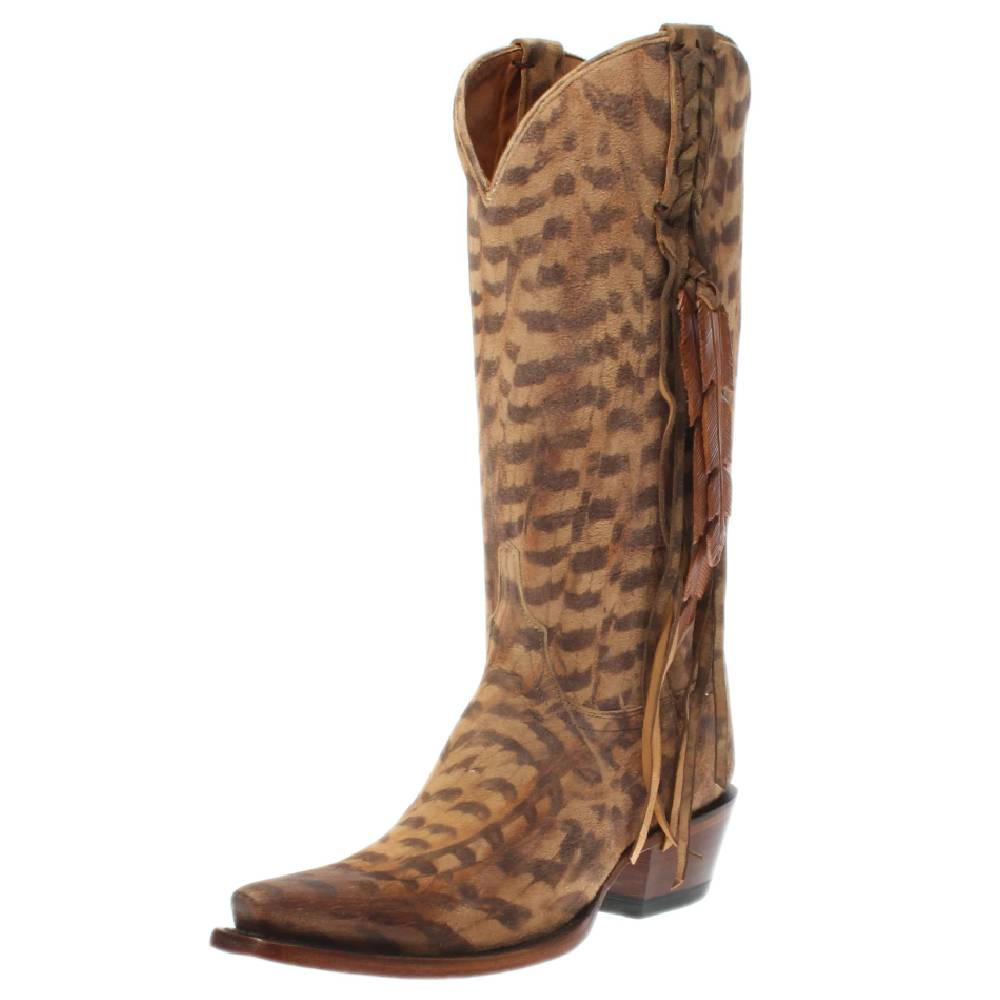 Lucchese Printed Suede Boot WOMEN - Footwear - Boots - Fashion Boots Teskeys Teskeys