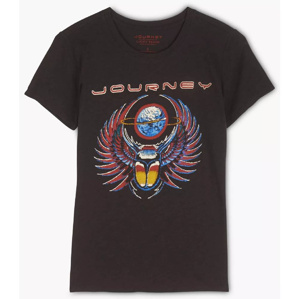 Lucky Brand Womens Journey Logo Tee WOMEN - Clothing - Tops - Short Sleeved LUCKY BRAND JEANS Teskeys
