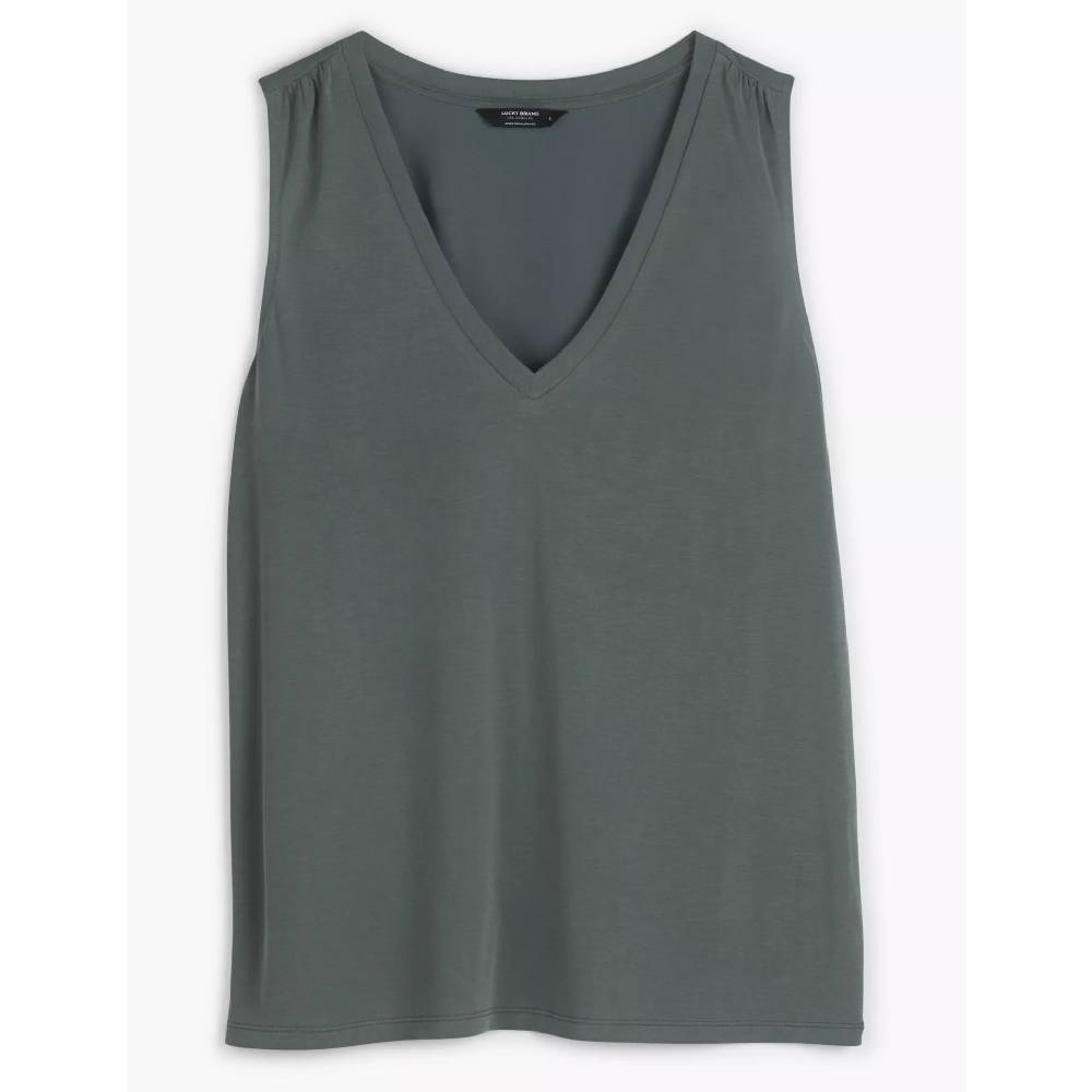 Lucky Brand V-Neck Sandwash Tank WOMEN - Clothing - Tops - Sleeveless LUCKY BRAND JEANS Teskeys