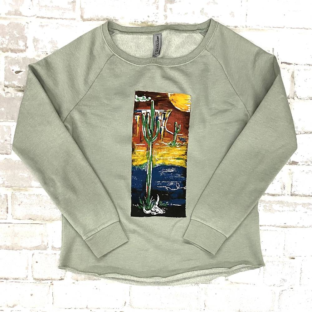 Lucky Chuck Desert Sage Crew Sweatshirt WOMEN - Clothing - Tops - Short Sleeved Lucky Chuck Teskeys