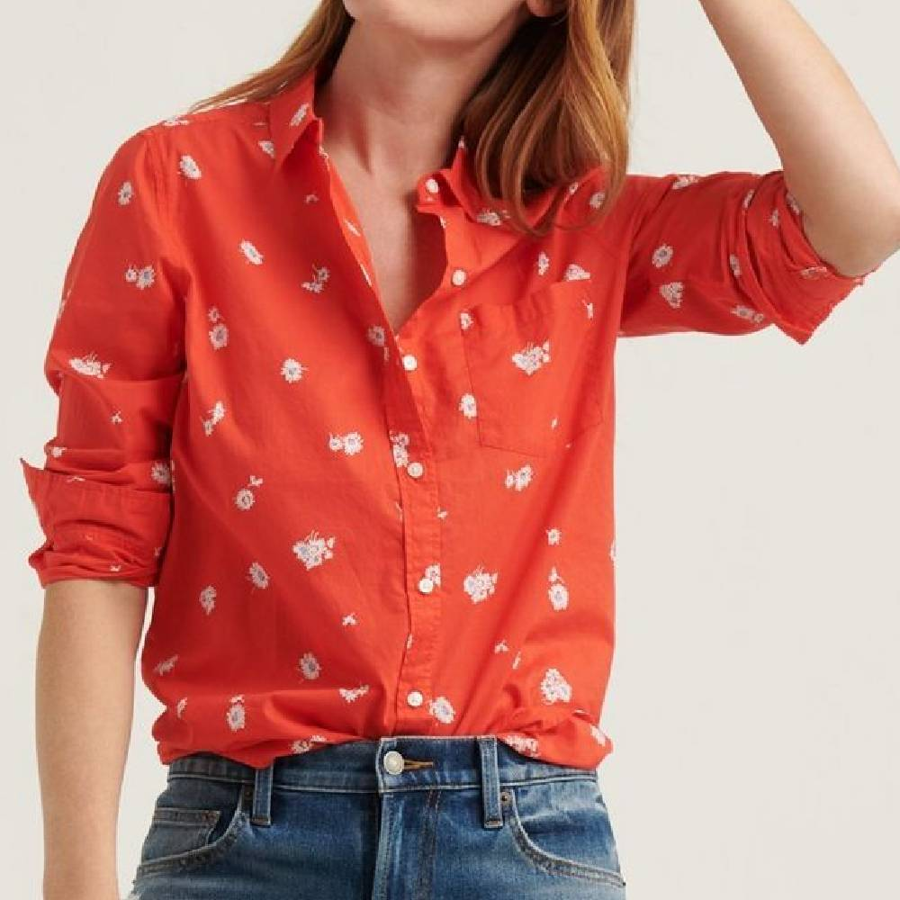 Lucky Brand Classic Button Up Top WOMEN - Clothing - Tops - Long Sleeved LUCKY BRAND JEANS Teskeys