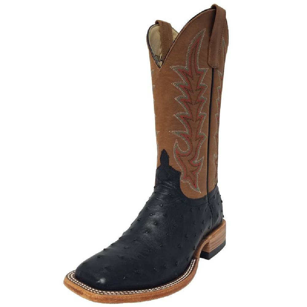Macie Bean Black Full Quill Ostrich Boot
