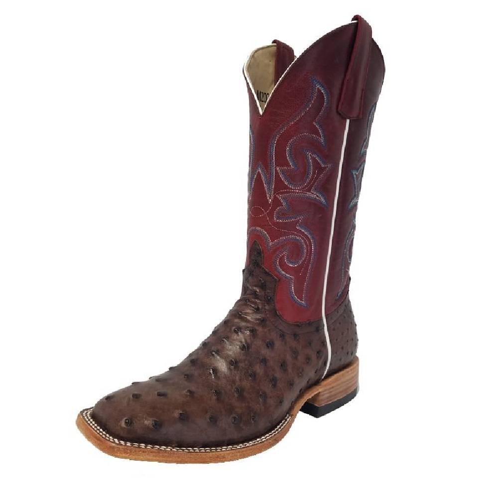 Macie Bean Kango Tobacco Full Quill Ostrich Boot WOMEN - Footwear - Boots - Western Boots ANDERSON BEAN BOOT CO. Teskeys
